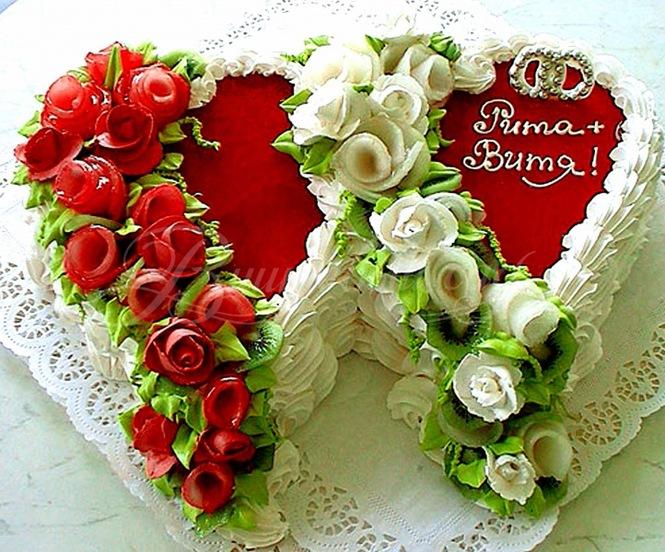 Украшение тортов на свадьбу своими руками