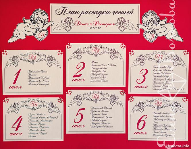 Карты рассадки гостей на свадьбе своими руками